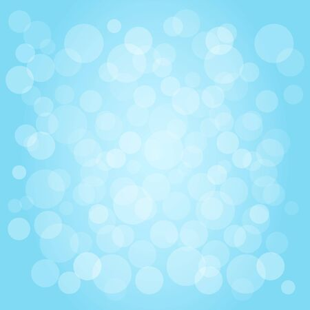 Abstract blue sky background with bubbles. Vector illustration