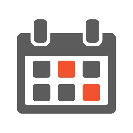 Calendar icon isolated on white background. Vector illustration Фото со стока - 130872220