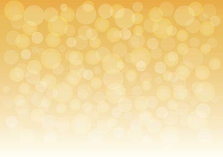 Golden bokeh abstract holiday background, light shine. Vector illustration
