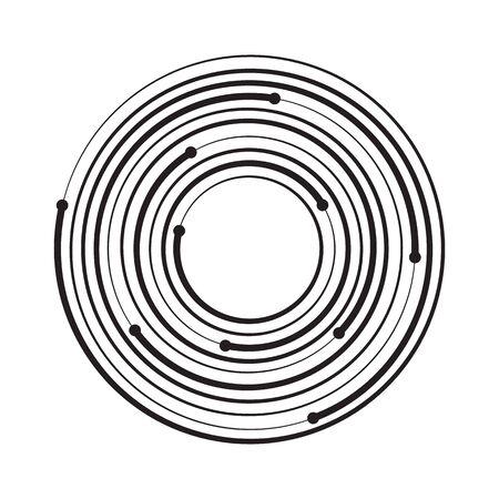 Concentric circle geometric element. Vector illustration 向量圖像