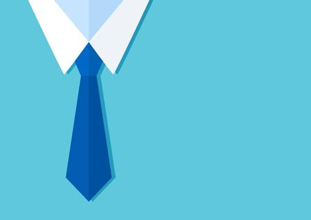 Business background with tie, businessman, space for your text. Vector illustration 向量圖像