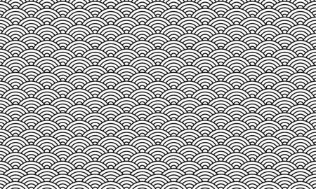 Black and white chinese pattern, oriental background. Vector illustration 向量圖像