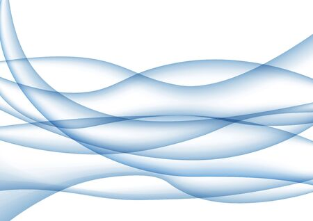 Abstract background with blue waves, motion line, color gradient. Vector illustration