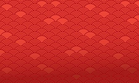 Red chinese pattern, oriental background. Vector illustration 向量圖像