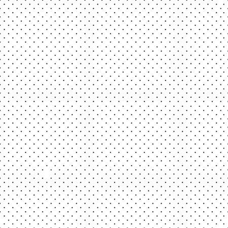 Polka dot seamless pattern, black small dots on white background. Vector illustration