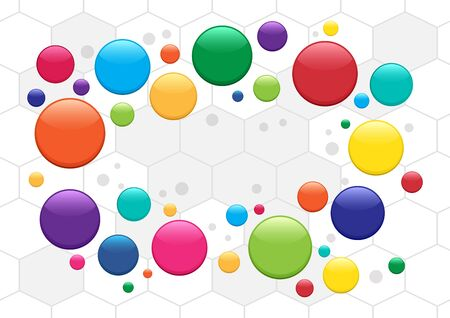 Abstract circles background, colorful bubbles. Medicine pills pattern. Place for your text. Vector illustration
