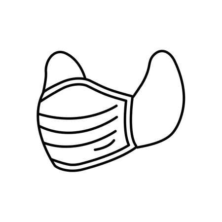 Medical face mask on white