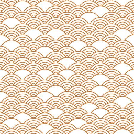 Golden chinese seamless pattern, oriental background. Vector illustration