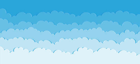 Heaven vector. Clouds on blue sky background. Abstract illustration
