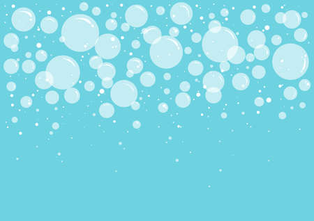 Bath bubbles soap and foam vector background, transparent suds. Abstract illustration