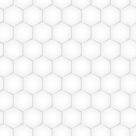 Hexagon vector seamless pattern, honeycomb geometric background, mosaic grid texture. Abstract illusration