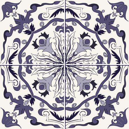 talavera: Vector beautiful pattern for design and fashion with decorative elements. Seamless texture. Portuguese tile, Azulejo, Talavera, Moroccan ornament
