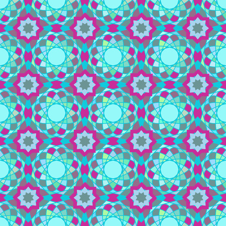 feast: seamless texture. Arabic muslim geometric pattern with mosaic ornaments. Ethnic background to Ramadan and Feast of Breaking the Fast celebration Illustration