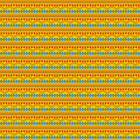 Vector seamless texture. Tribal geometric striped pattern. Mexican ornamental style. Ethnic native american indian ornaments