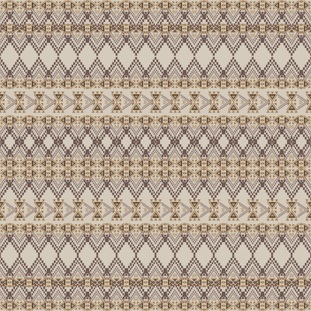 style geometric: Vector seamless texture. Tribal geometric striped pattern. Aztec ornamental style. Ethnic native american indian ornaments Illustration
