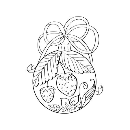 Juguete De árbol De Navidad Con Estilo. Dibujado A Mano Dibujo ...