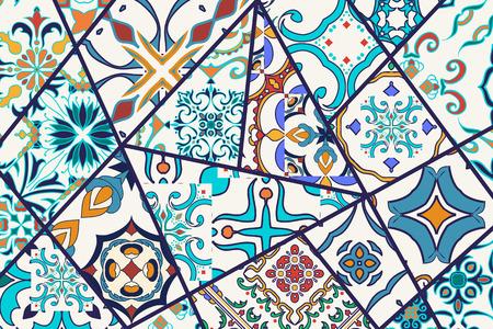 fashion design: Mosaic patchwork pattern for fashion design. Illustration