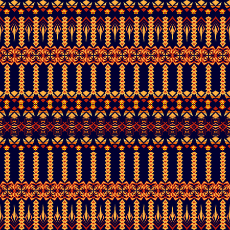 Vector seamless texture. Tribal geometric striped pattern. Aztec ornamental style. Ethnic native american indian ornaments Ilustrace
