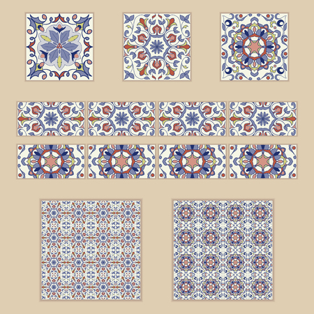 Hervorragend #80190512   Vektorsatz Portugiesische Fliesen Und Grenzen. Sammlung Von  Farbigen Mustern Für Design Und Mode. Spanische, Marokkanische, Türkische  Ornamente
