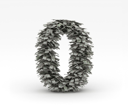 Dollars letter number 0 Stock Photo - 12668949