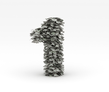 Dollars letter number 1 Stock Photo - 12668935