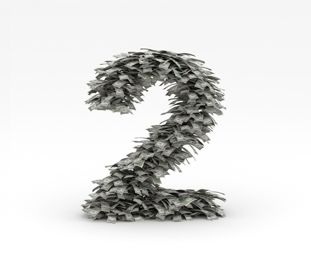 Dollars letter number 2 Stock Photo - 12668944