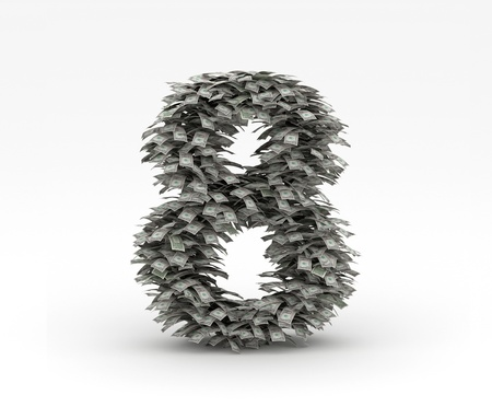 Dollars letter number 8 Stock Photo - 12668953