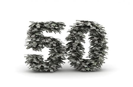number 50: N�mero 50 de banlknotes d�lares