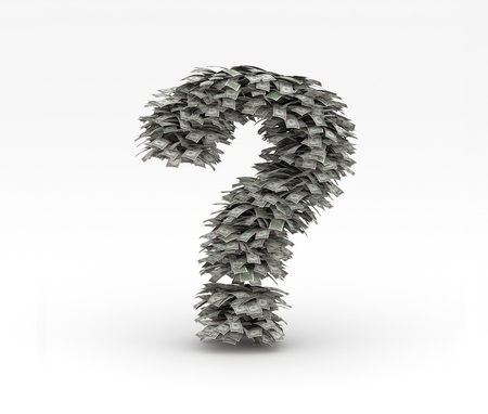 Question mark symbol with dollars Letter Stock Photo - 12668942