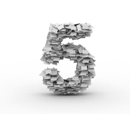 number 5: Big pile of paper, number 5