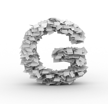 Alphabet maked from paper sheets in stack Stock Photo - 12977742