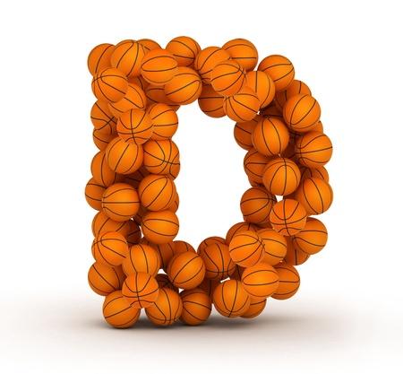 basketball ball: Letter D, basketball alphabet Stock Photo