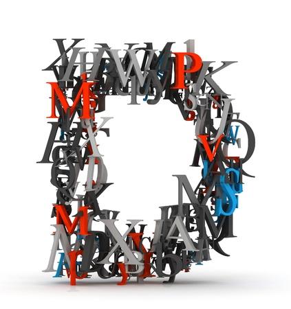 letter d: Letter D, alphabet from letters