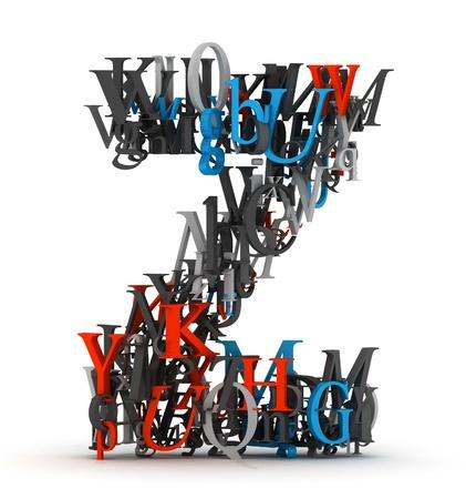letter z: Letter Z, alphabet from letters