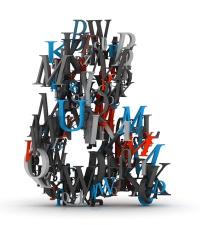 Ampersand sign made from 3d letters Stock Photo - 13746621