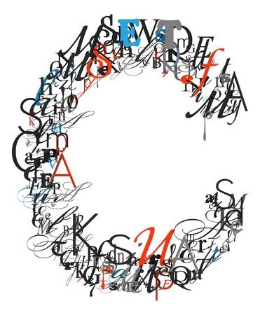 letter c: Letter C, alphabet from letters