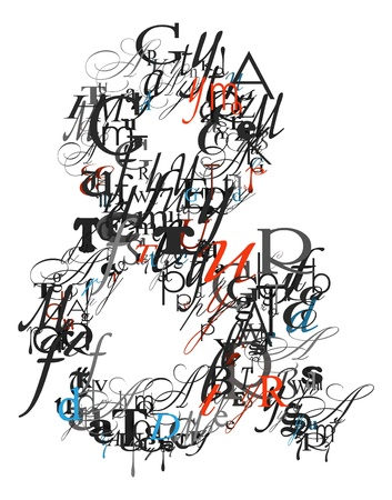 ampersand: Ampersand sign , alphabet from letters