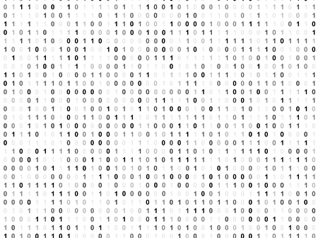 operating system: Binary code screen
