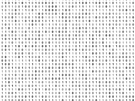 operating system: Flat binary code screen