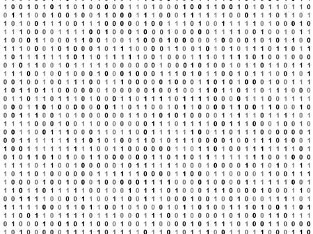 cryptogram: Flat binary code screen