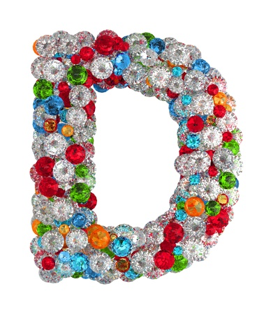 letter d: Letter C from scattered gems jewelry