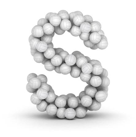 buchstabe s: Buchstabe S aus gestapelten Volleyball B�lle