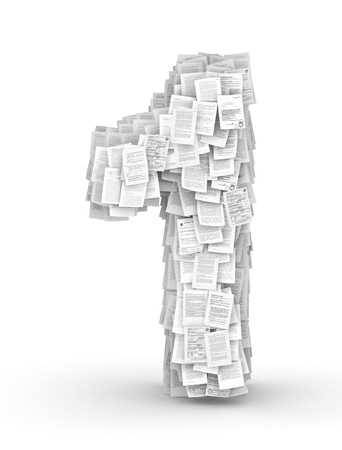 bureaucratism: Number 1, from thousands of documents font