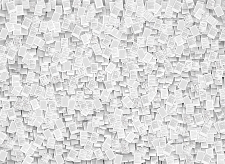 bureaucratism: Wall background, from thousands of documents font Stock Photo