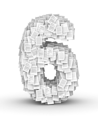 bureaucratism: Number 6, from thousands of documents font