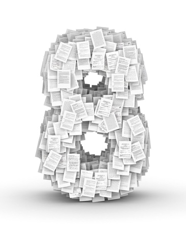 bureaucratism: Number 8, from thousands of documents font