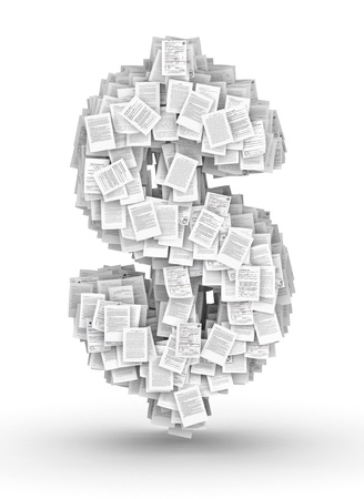 bureaucratism: Dollar sign , from thousands of documents font