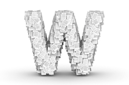 commercialese: Letter W, from thousands of documents font