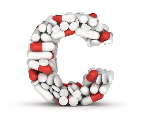 Letter c, alphabet of medicine pills Stock Photo - 17079012