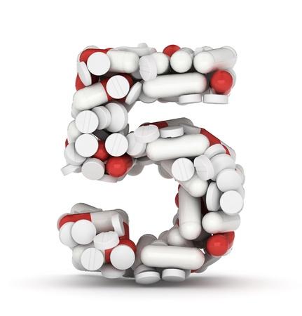health questions: Number 5, alphabet of medicine pills